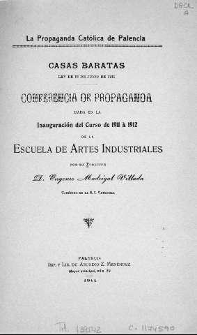 Biblioteca Digital de Castilla y León > Casas baratas : Ley de 12 de ...