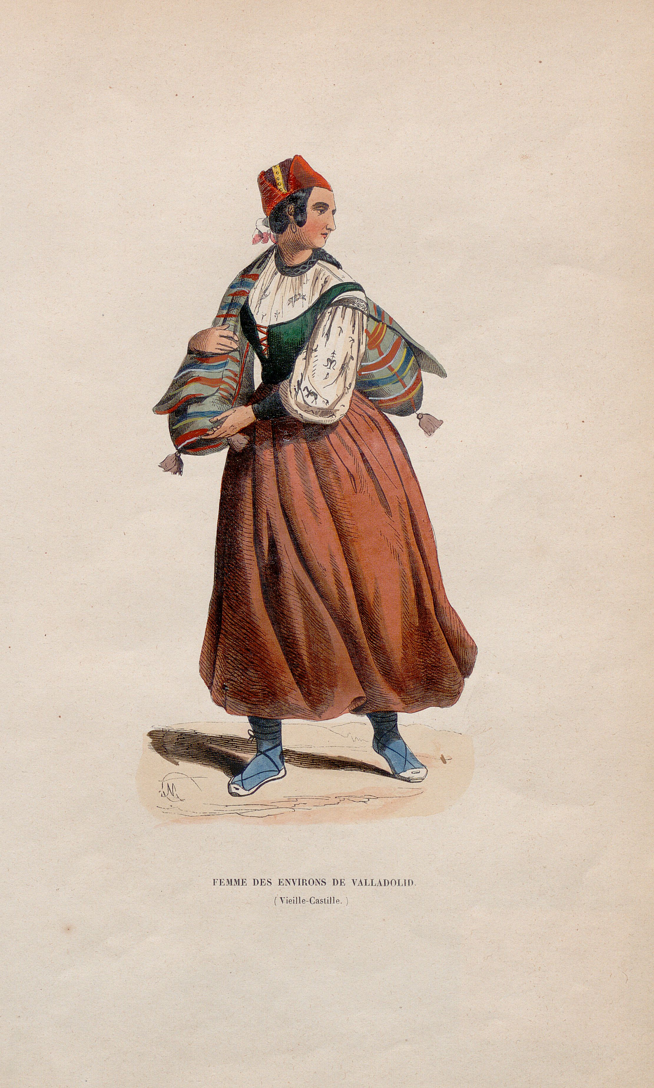 Femme des environs de Valladolid [Material gráfico] ]:(Vieille-Castille)