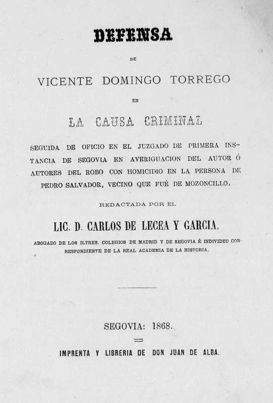 Biblioteca Digital de Castilla y León > Defensa de Vicente Domingo ...