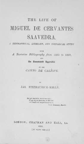 The life of Miguel de Cervantes Saavedra : a bi... (1892)